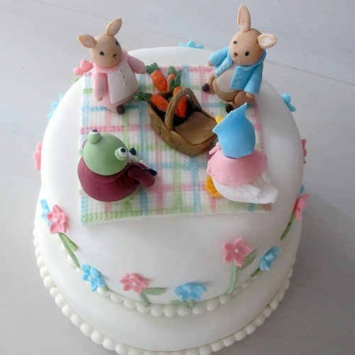Aw! Beatrix Potter baby shower cake!