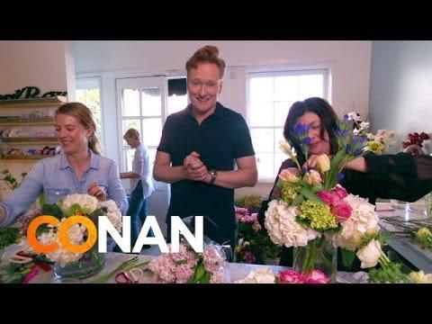 #Conan O'Brien Delivers Bouquets On #ValentinesDay - #funny