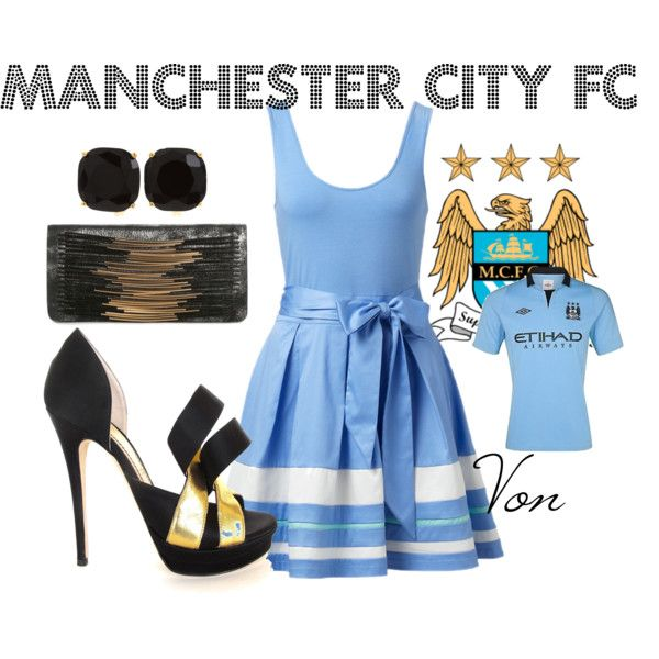 """""""Football Inspiration: Manchester City FC"""" by vonjade on Polyvore"""
