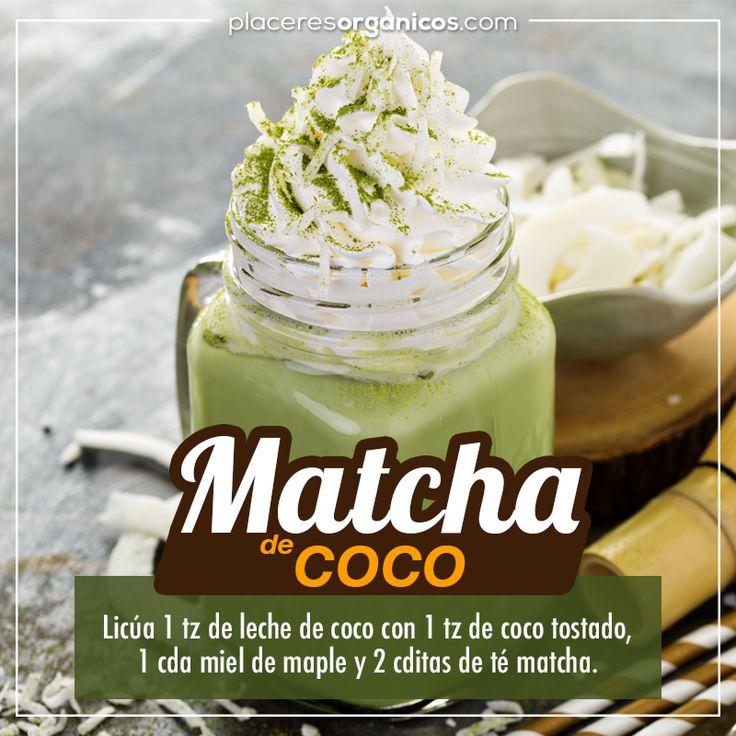 Receta de smoothi de té verde matcha con leche de coco