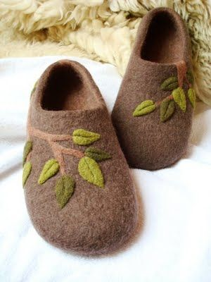 felted slippers are surprisingly easy to do, and with supervision children can felt their own slippers.
