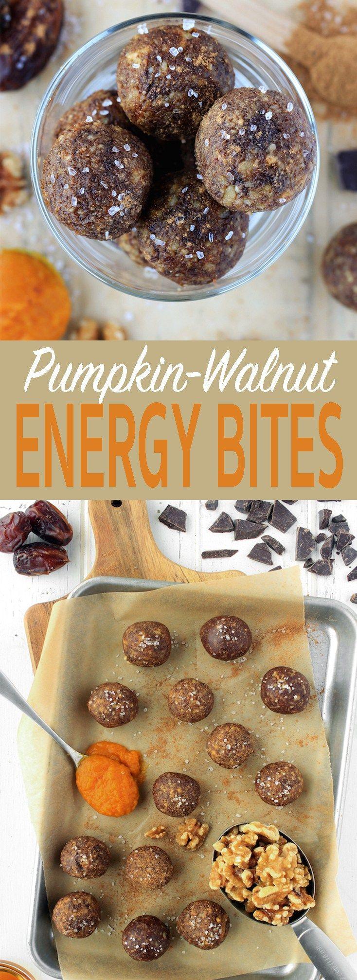 7 whole-food ingredients + 5 minutes = Pumpkin Walnut Energy Balls @California Walnuts #walnuts #CG #ad