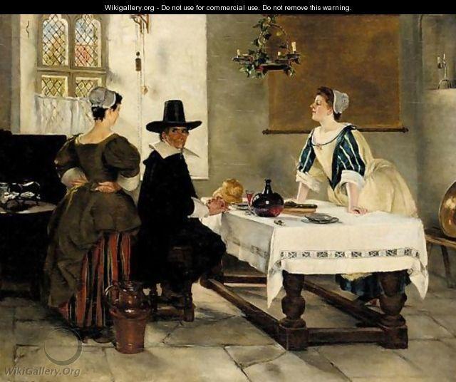 Between Two Fires by John Seymour Lucas (British 1849-1923)