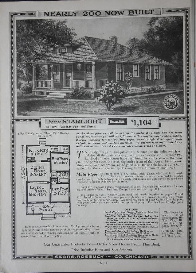 Sears Honor Bilt 1918 Starlight Archive Org Modern House Arch House Prefabricated Houses