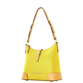Dooney & Bourke | Claremont Hobo | Spring Fashion    Yellow | Trends | Trending | Yellow Handbag | Yellow Accessory | Yellow Accessories | Yellow Purse | Fashion | Style | Bold | Dandelion | Daffodil | Mustard | Lemon | Limone | Banana | Pineapple | Gold | Butterscotch | Honey | Bumblebee | Blonde | Butter | Tuscan Sun