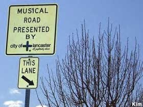 The Musical Road in Lancaster, California.