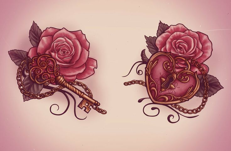 If my husband would ever get something so feminine, i would LOVE this as a couple tat.