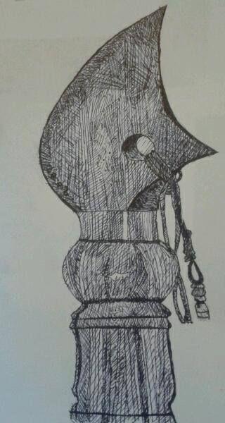 June 2014  My sister's spear. Done in pen