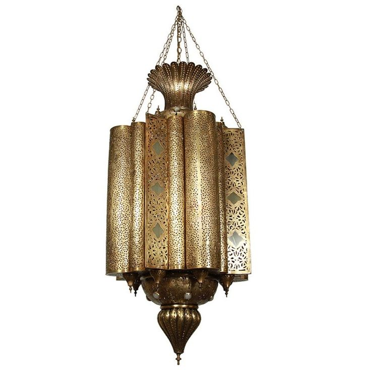 Extra Large Tall Vintage Moorish Pierced Brass Chandelier This Moroccan Handcrafted Is Rewired And Ready To Use