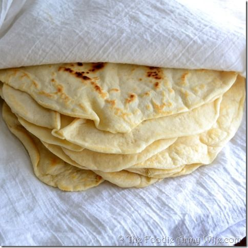 Homemade Tortillas - these are delicious and they're so easy to make!