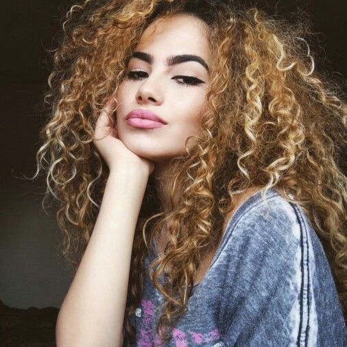 Blonde Curly Hair Curly Hair Styles And Tips Pinterest