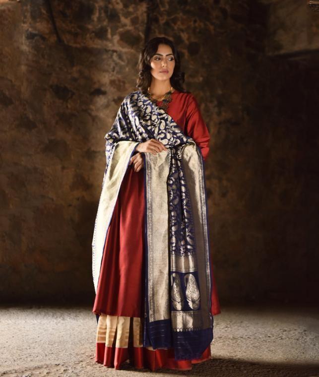 Festive woven dupattas by Ekaya to create striking ensembles Online at Jaypore.com