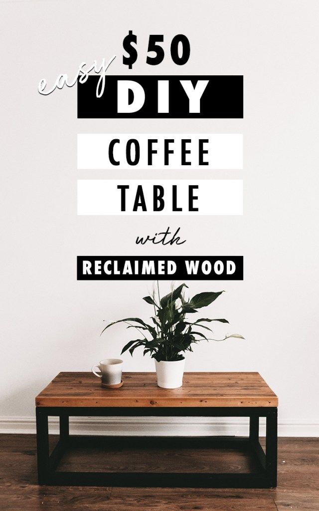 Diy Coffee Table From Reclaimed Wood - How To Stain And Seal Coffee Table