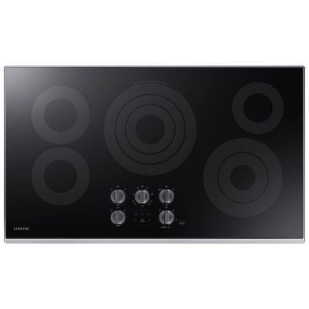 "Buy Samsung 36"" Ceramic Electric Cooktop with 5 Elements, including Rapid Boil™ and Wi-Fi NZ36K7570RS/AA at JCPenney.com today and enjoy great savings."