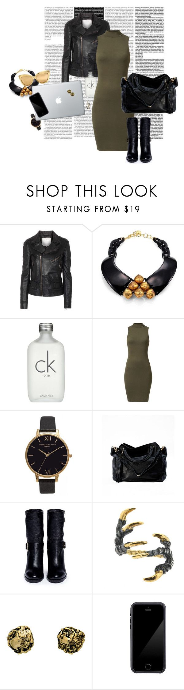 """""""High neck dress"""" by nastiarl ❤ liked on Polyvore featuring Surface To Air, Nest, Calvin Klein, Olivia Burton, Jimmy Choo, Tessa Metcalfe, Kamryn Dame, Squair, Linda Farrow and gold"""