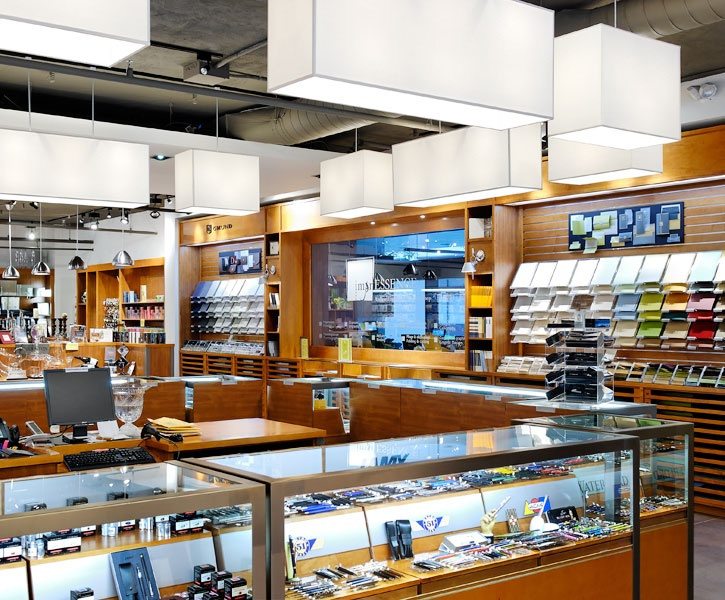 Lemaymichaud Montr Al Retail Store Paper Stationary Display Counter Cash