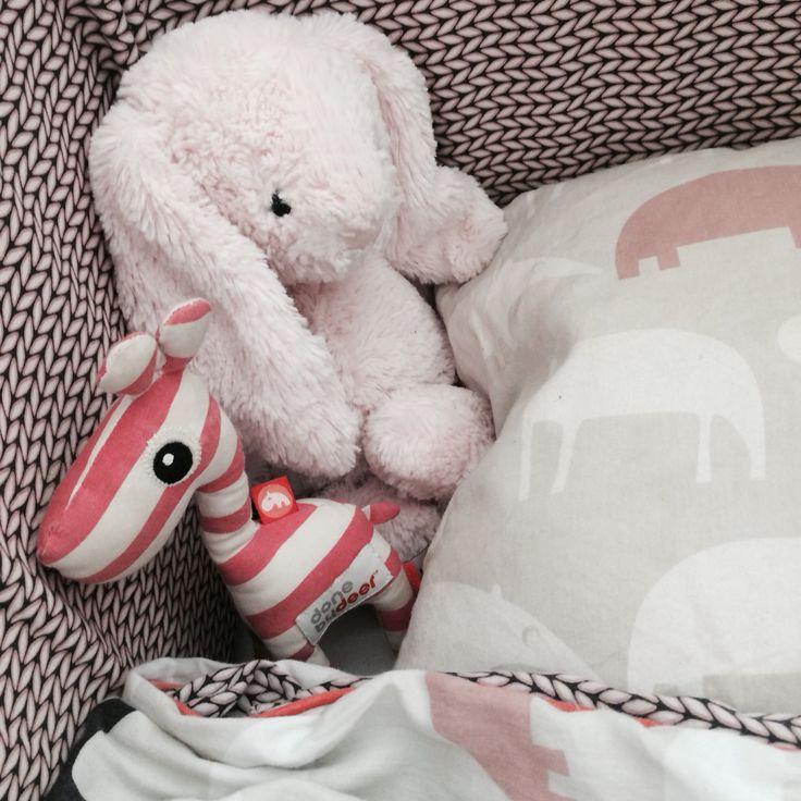 Done by dear, giraf, lyserød, seng, sovetid, prinsesse, Summer, vintage, Childrens room