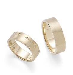 Aliança de ouro amarelo 18K com diamantes - Alianças H.Stern