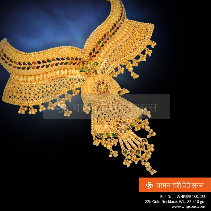 Exquisite gold necklace set ideal for traditional wear with excellent design
