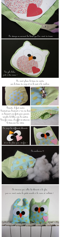 DIY HIBOU en tissu sur inspiremepretty.com