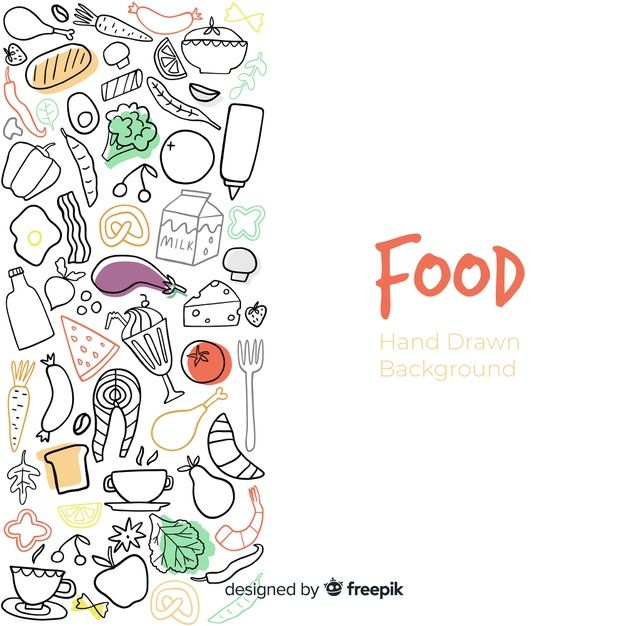 Download Hand Drawn Food Background For Free Makanan