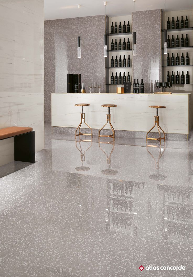 Marvel gems floor and wall tiles inspired by venetian terrazzo
