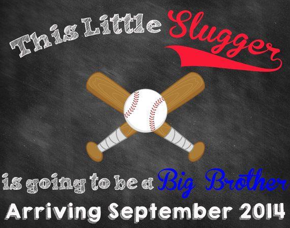 Custom Printable Baseball Pregnancy Announcement // Baseball Pregnancy Reveal // Baseball Announcement // Slugger