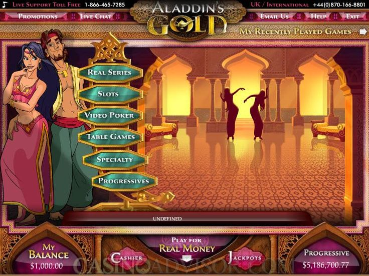 Aladdin's Gold Online Casino Review