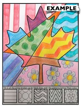 CANADIAN MAPLE LEAF INTERACTIVE COLORING SHEET FREEBIE