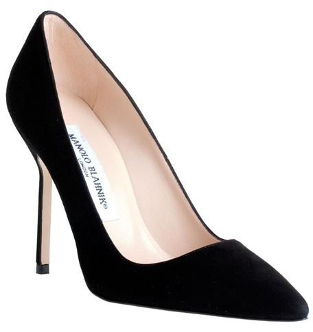 manolo bridal, manolo blahnik white pumps outlet $197, manolos shoes price, Manolo Blahnik Bb 105 Black Suede Pump Classic