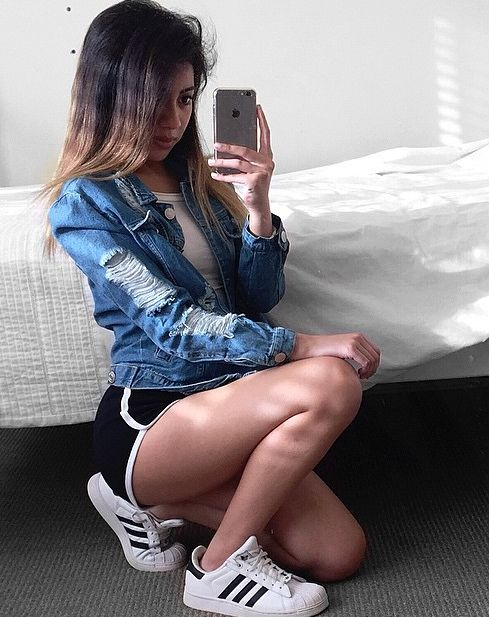 #SportyOutfitInspo featuring our favorite brand at #Sportdecals, #Adidas <3