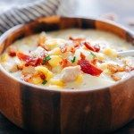 This Instant Pot chicken potato corn chowder with bacon is a delicious thick, creamy, hearty soup thats perfect comfort food for winter. Its a one pot meal, made easily in an electric pressure cooker or on the stovetop and takes about 30 minutes from start to finish.