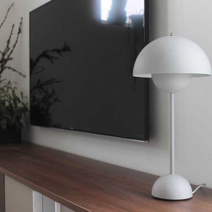 Lampe A Poser Flowerpot Vp3 Blanc Mat O23cm H49cm Andtradition Interieur Design Lampe A Poser Deco