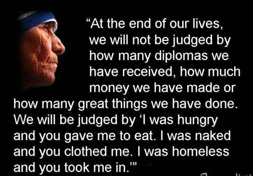 Mother Teresa...one of my heroes of the faith.