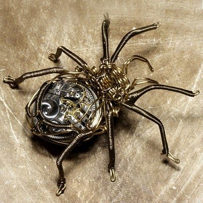 two of my favorite things: insect/spider jewlry and anything steampunk!