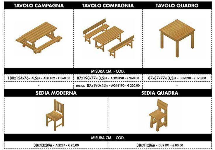 tavoli da esterno in legno