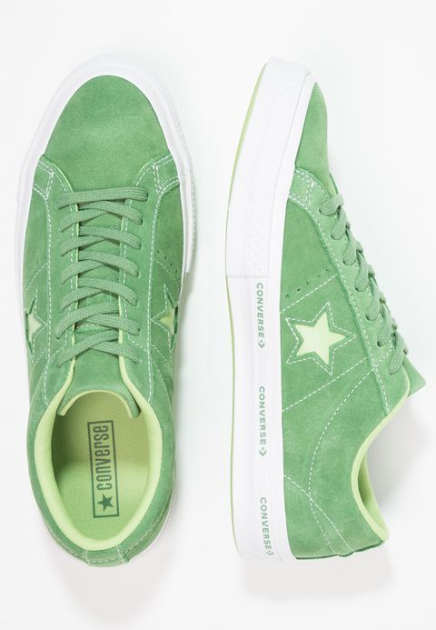 5a74eee58dc7 Converse ONE STAR - OX PINESTRIPE - Trainers - mint green jade lime white