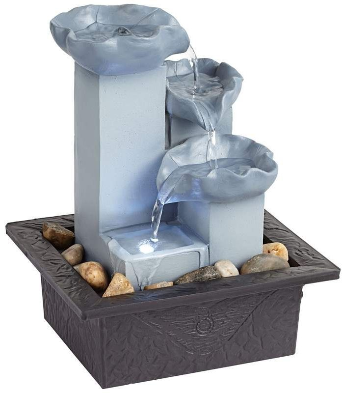 Best Indoor Fountain 13 best indoor water fountains images on pinterest indoor water cool blue three tier led zen tabletop fountain ebay workwithnaturefo