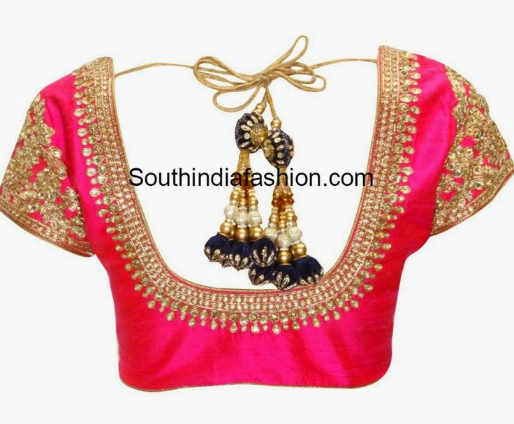 Beautiful Kundan Work Blouse ~ Celebrity Sarees, Designer Sarees, Bridal Sarees, Latest Blouse Designs 2014