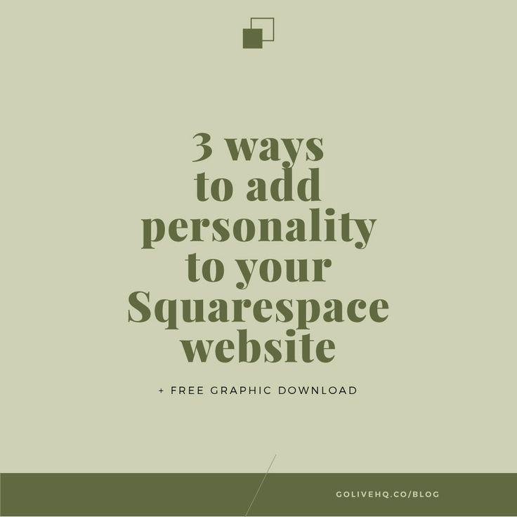 197 best Squarespace images on Pinterest   Design websites, Site ...