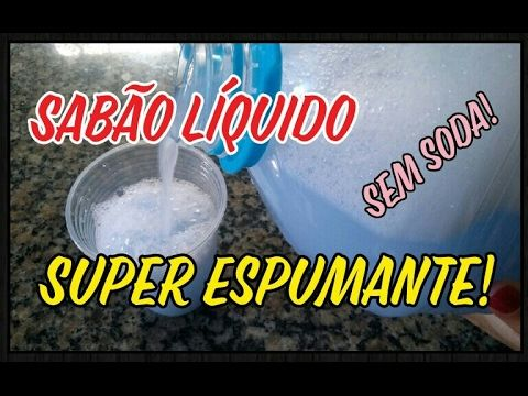 O MELHOR SABÃO LIQUIDO CASEIRO | RENDE MUITO E FAZ ESPUMA | NINGUÉM TE CONTOU - YouTube