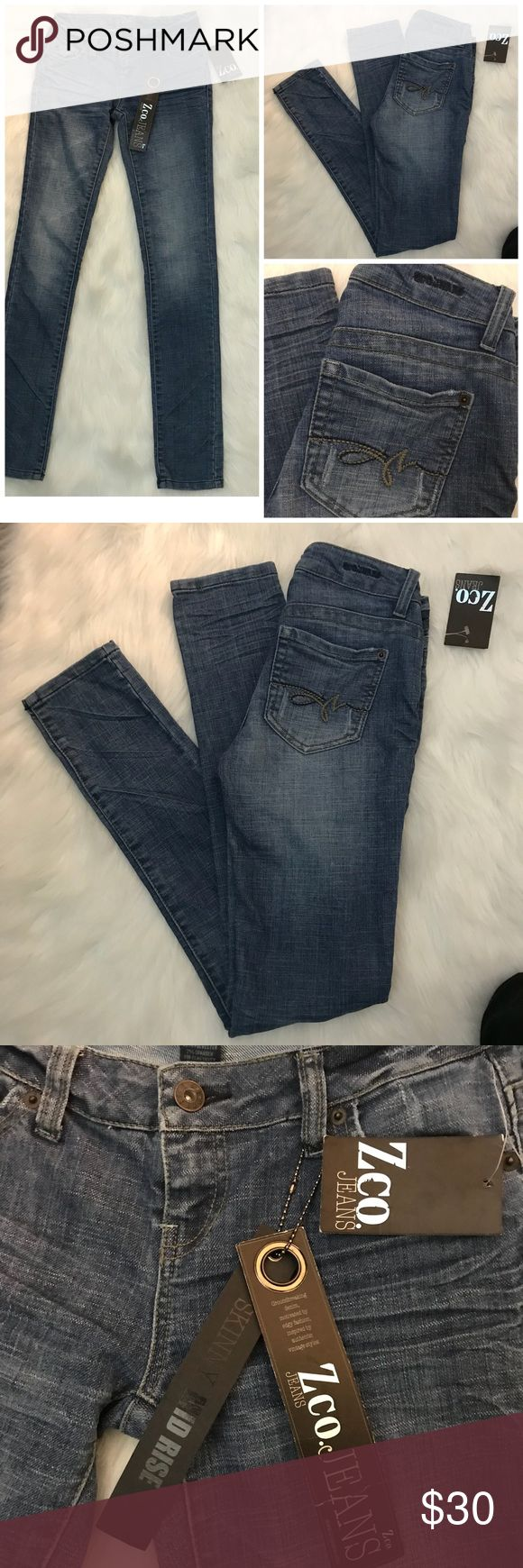 """NWT ZCO Size 1 Misses skinner Jeans. Very cute! Super Chic! Get styled with theses Misses ZCO Jeans size 1. Waist 13"""" inseam 31"""" Rise 7"""" Measurements are Approximate.  All reasonable  offers  considered. Let's make a deal today! I ZCO Jeans Skinny"""