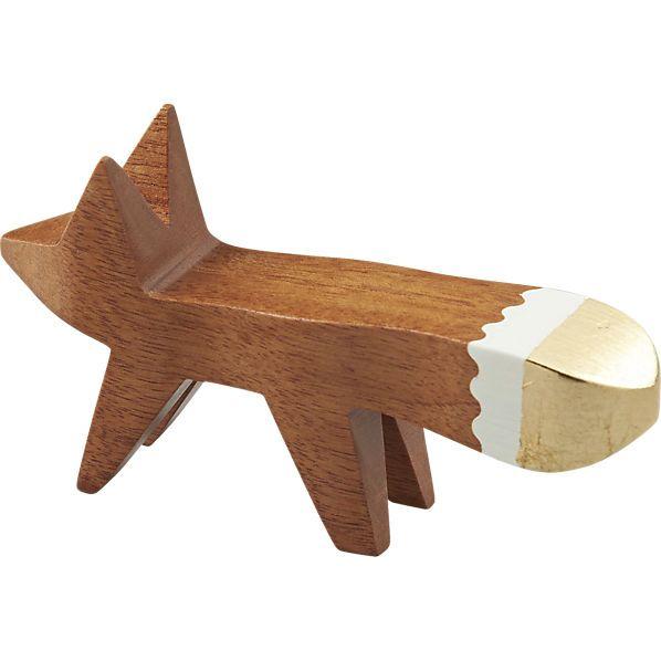 gold tip fox paper clip holder    CB2
