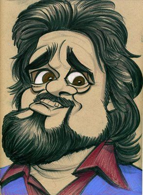 Wolfman Jack (by Zack Wallenfang) Excellent Artistic Drawing. He was so Cool. Love his Voice!