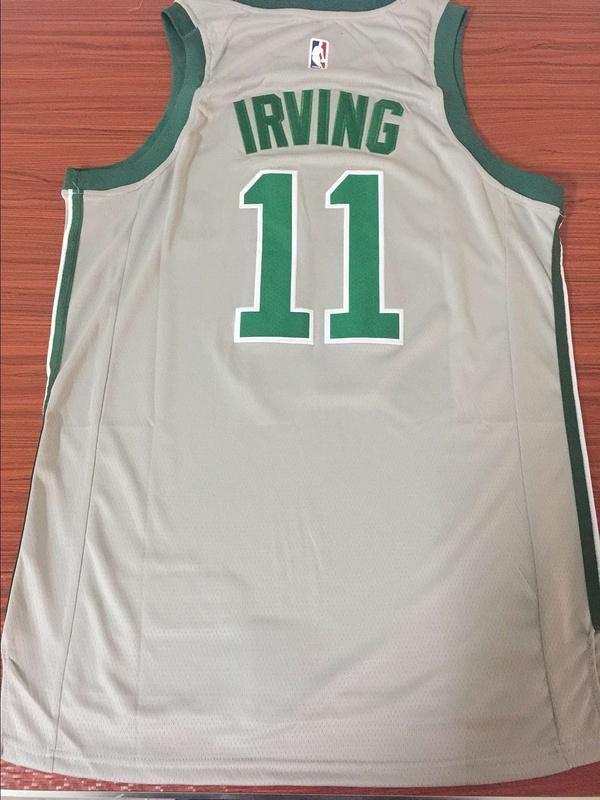 online store 11fbf d2769 Men 11 Kyrie Irving Celtics Jersey Gray Boston Celtics ...