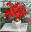 """Red Flowers In Vase"""