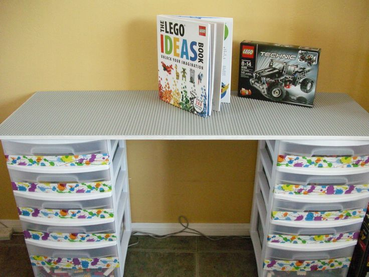 Lego table made for a Christmas present. From Family Fun Magazine clever ideas