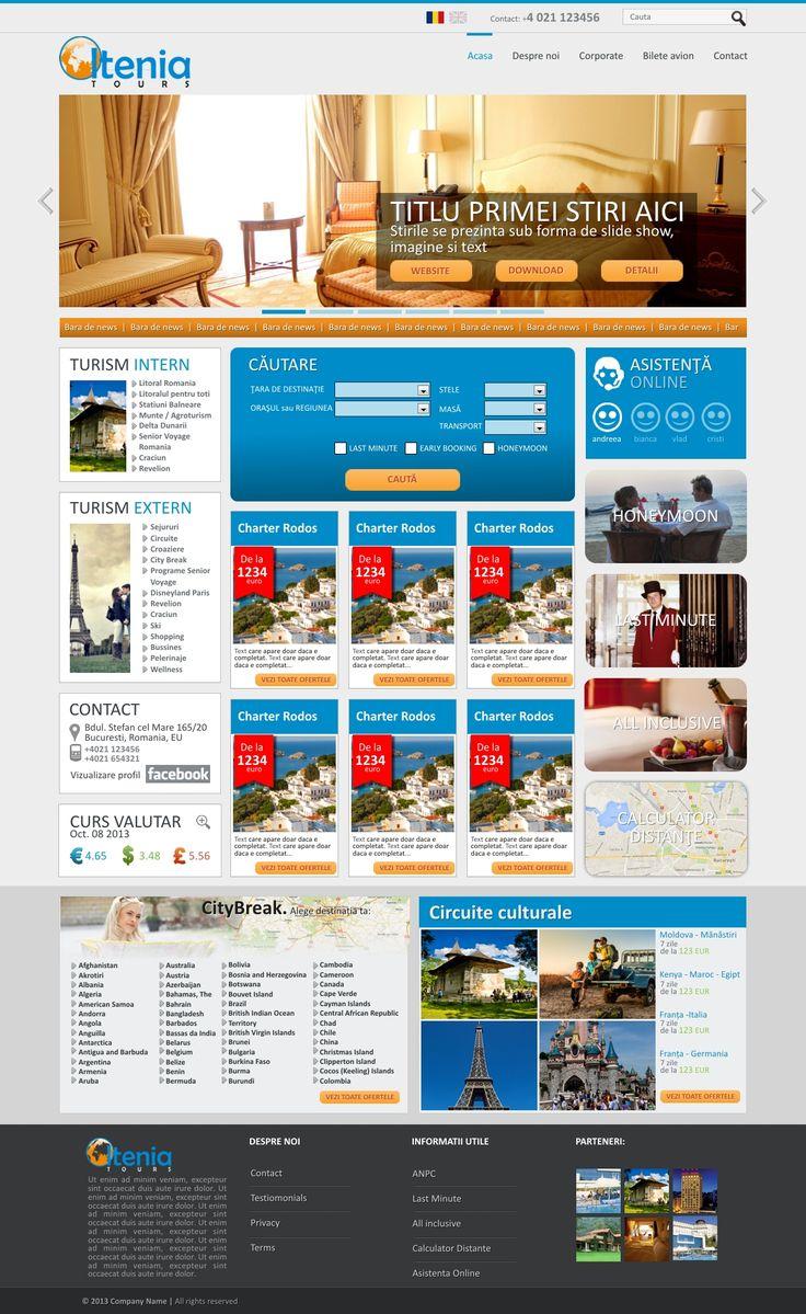 Oltenia tours - V1-1 - web design concept / PSD