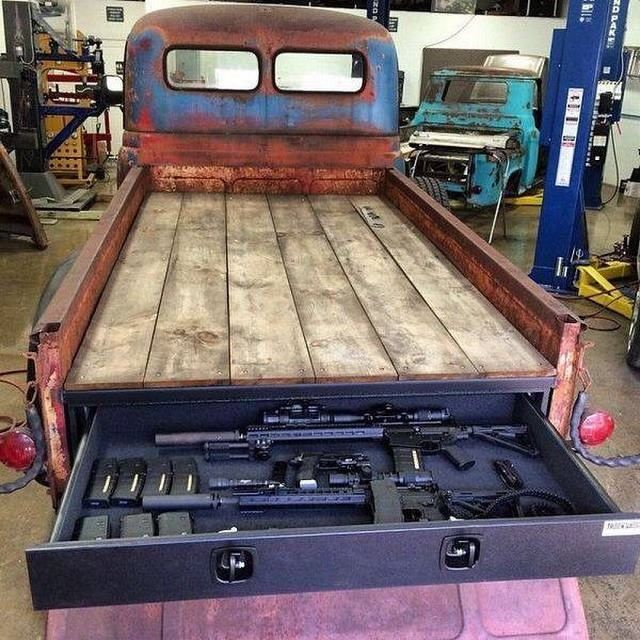 The 42 best images about vehicle weapon hidden storage on pinterest cars rifles and trucks - Truck bed storage ideas ...