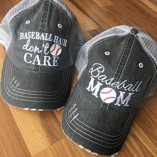 Hat {Baseball hair don't care} {Baseball mom}